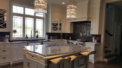 Shaped glass counter top