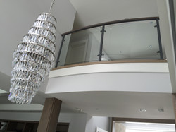 Interior curved balcony from below
