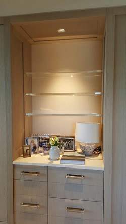 Lucite 1 inch shelving