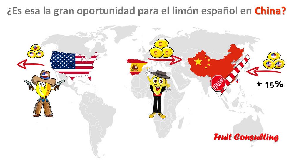 Estados Unidos, China responde con aranceles sobre la fruta