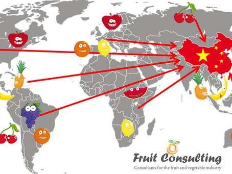 Listado de Frutas y Verduras permitidas para la exportación a China