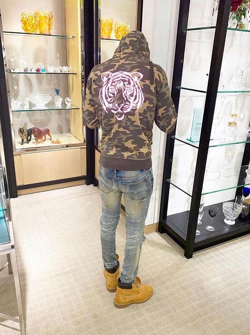 Camo reflective hoodie