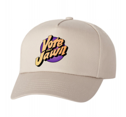 Vote That Jawn Five-Panel Twill Cap - Khaki