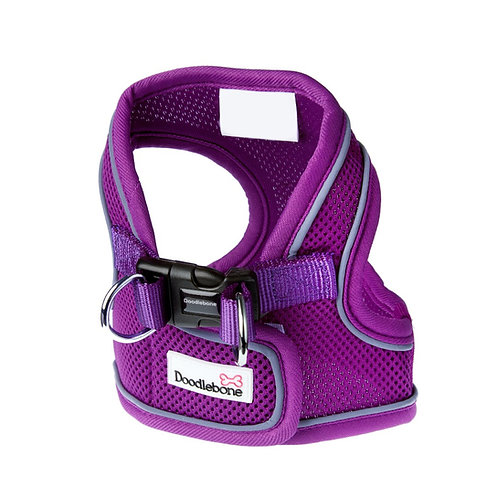 Doodlebone Purple Airmesh Snappy Harness - Large