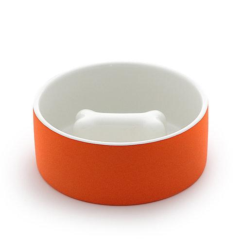 Magisso Cooling Slow Feed Bowl Orange - Large