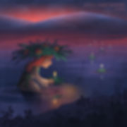 Crown_by April Hartmann_Young Marta attempts to mend the broken heart of her older sister Sarah by creatingamagicalwreathof mugwort, rue, camomile, and hypericum. Butshe's not the only one. All 5 of her sisters did the same. How will Sarah know her true love when faced with so many spellbound suitors? 