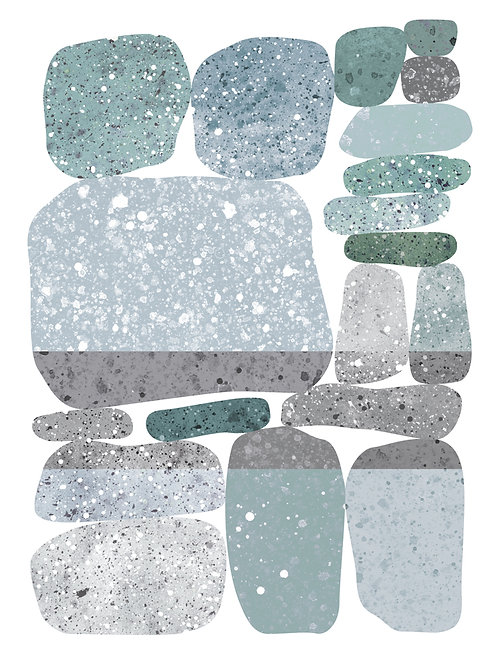Geocrush Zen Stones - Gray