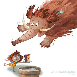 How to Wash a Woolly Mammoth_ art by April Hartmann