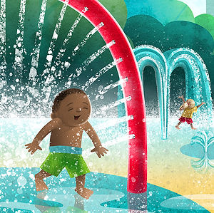 Summer Splash - art by April Hartmann - This work is available for licensing. Please contact for more information.