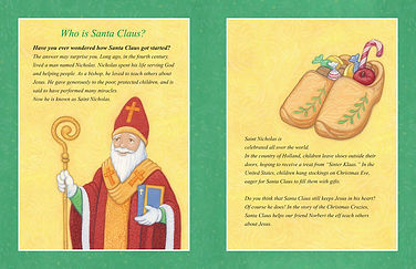 About Saint Nicholas from The Cure for the Christmas Crazies by April Hartmann. www.ahcreations.com/christmascrazies