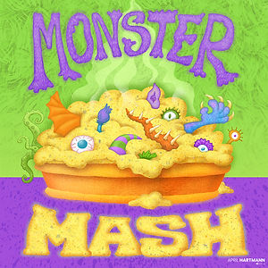 Monster Mash - art by April Hartmann - Eye of newt and thorny tail, mixed with hair and tooth and scale.