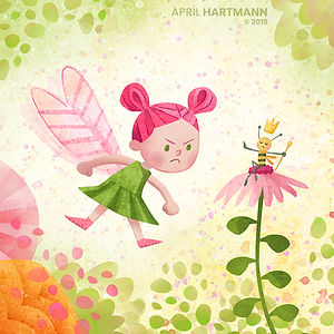 """No Ordinary Fairy"" - by April Hartmann - She knows it all when it comes to pixie pursuits in the enchanted forest. But not everyone is charmed by her sassy spirit. This story is available for publication. Please contact for more information."