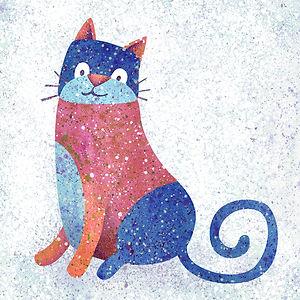 Blue Stonewashed Cat - art by AprilHartmann