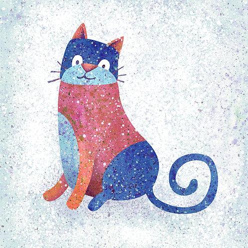 Blue Stonewashed Cat