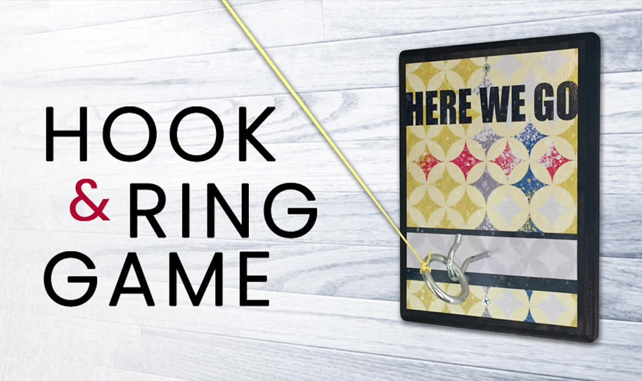 Designer Hook and Ring Game for Steelers fans. With its Black and Gold Design, rustic and hand-crafted charm, it's perfect for your game room, mancave or deck. Also makes a great gift!