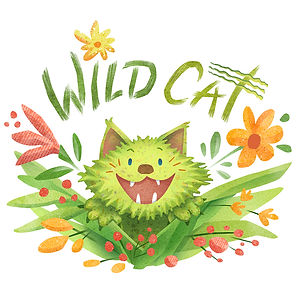 """Wild Cat"" - by April Hartmann - Unbridled enthusiasm at its best. And worst.  This nature loving, meditating, vegetarian is available for publication. Please contact!"