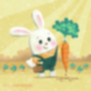 Bunny's Big Day - art by April Hartmann - What will Bunny find as he goes about his day? There are lots of BIG surprises waiting for him. This work is available for publication or licensing. Please contact for more information.