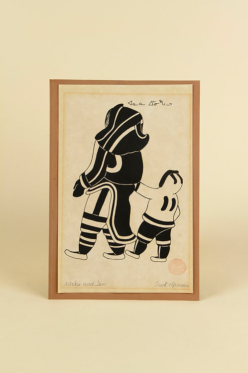 Mother and Son by Enook Manomie | SOLD