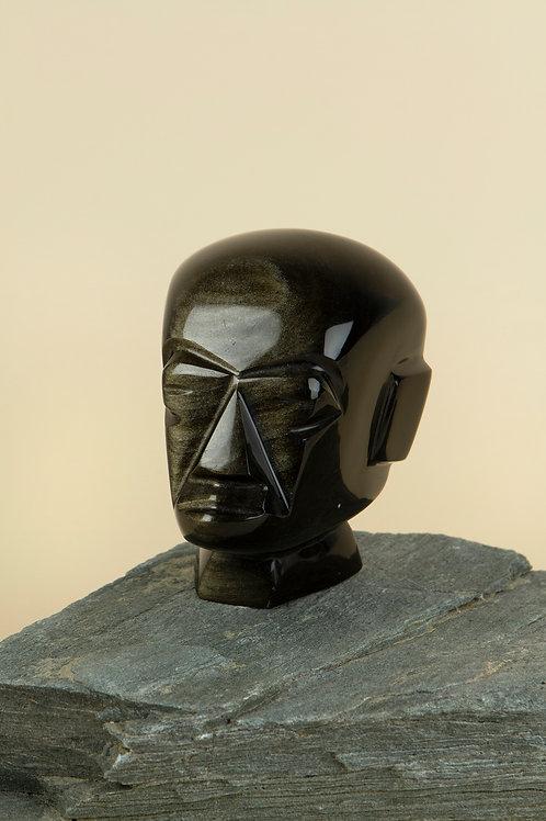 Obsidian Stone Head | SOLD