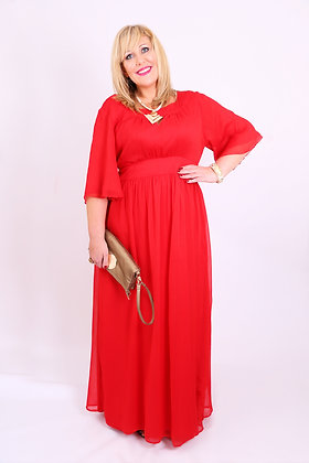 Eddie Dress in Red