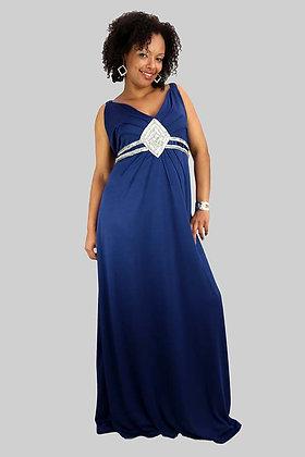 Soir Blue Evening Dress
