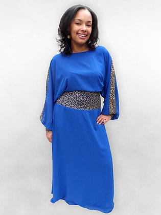 'Anna' Blue Evening Dress