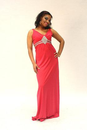 Soir Evening Dress in Cerise