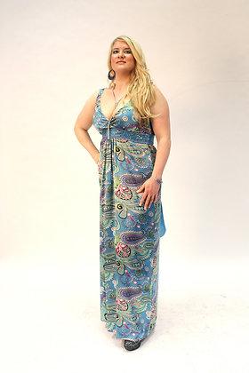 Ciel Fou Satin Maxi Dress