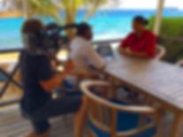 behind the scenes curacao shoot cameraman