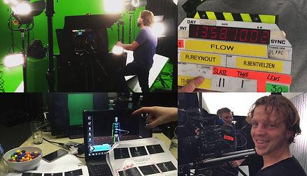 behind the scenes greenscreen studio commercial