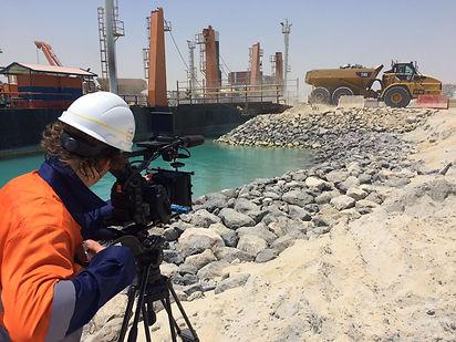 kuwait oil refinery site van oord