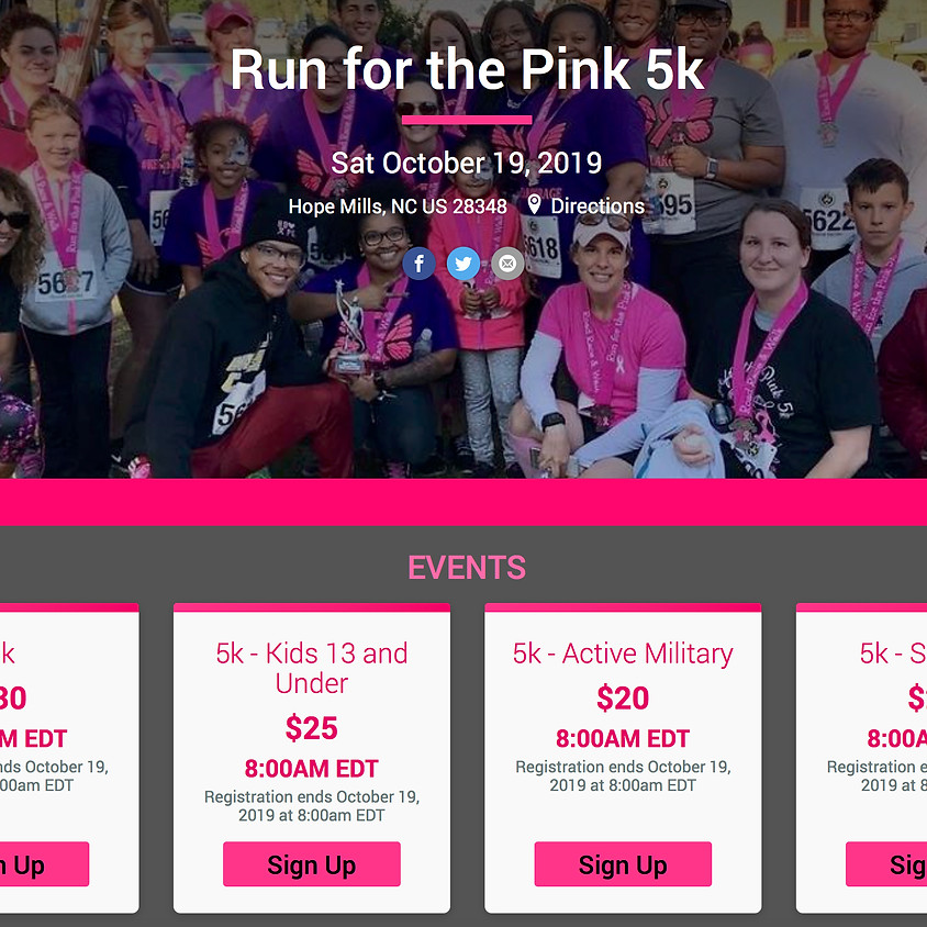 Destiny Now Runs for the Pink 5k