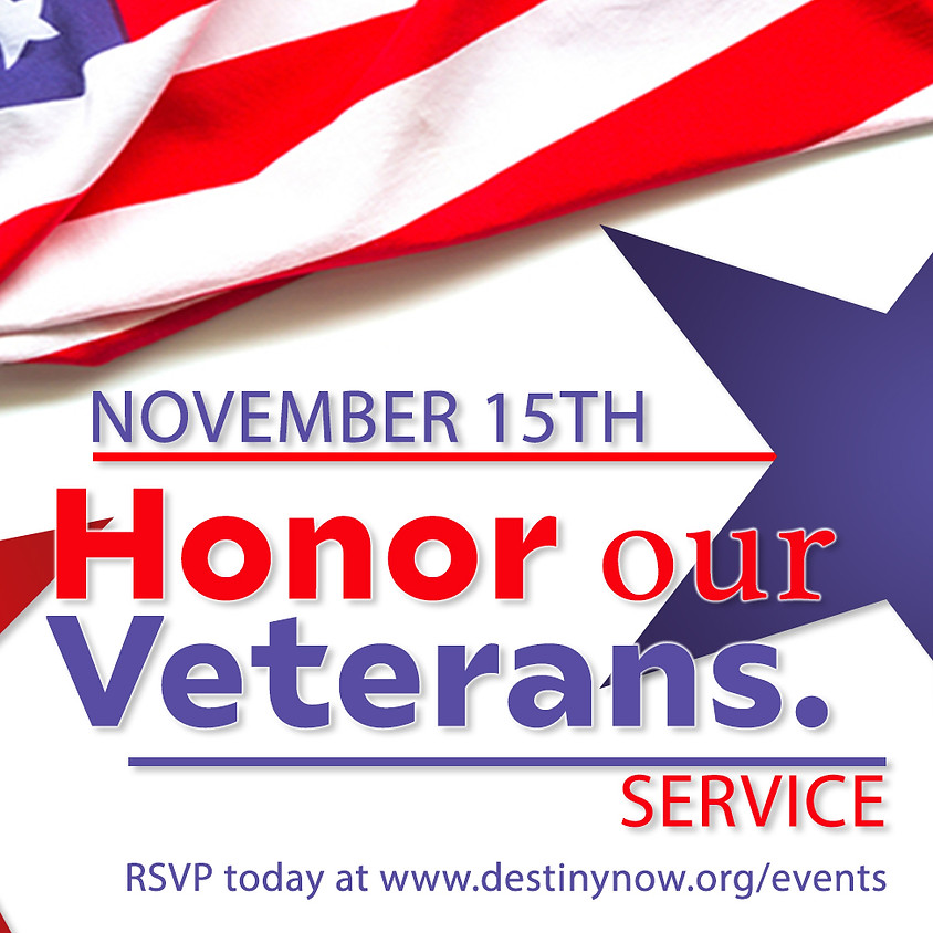 HONOR OUR VETERANS SERVICE - 11am In-Person Worship Gathering