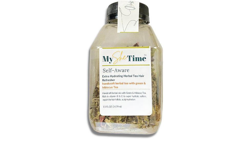 Self-Aware Green Tea & Hibiscus Tea Hair Refresher