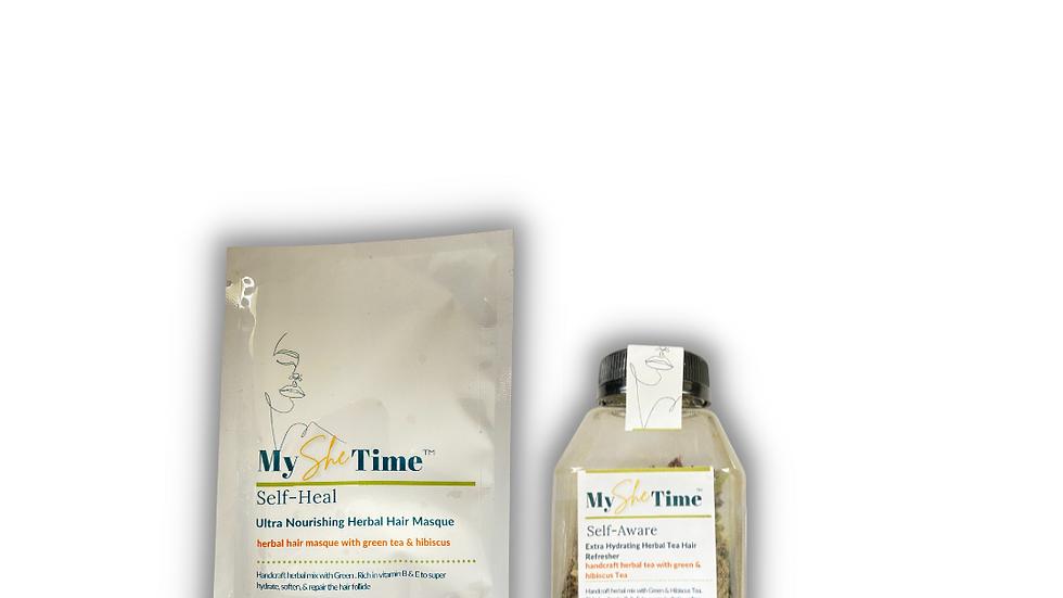 Self Green Tea & Hibiscus Prepoo & Deep Condition Day