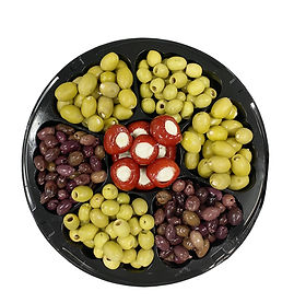 Olives Platter with Stuffed Cherry Peppe
