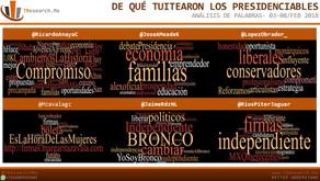 De qué Tuitearon los presidenciables 03-08/Feb