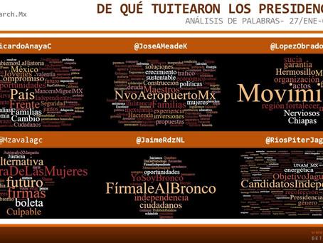 De qué Tuitearon los presidenciables 27-02/feb
