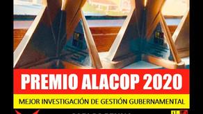 TResearch gana Premio ALaCop a la Mejor investigación de gestión gubernamental