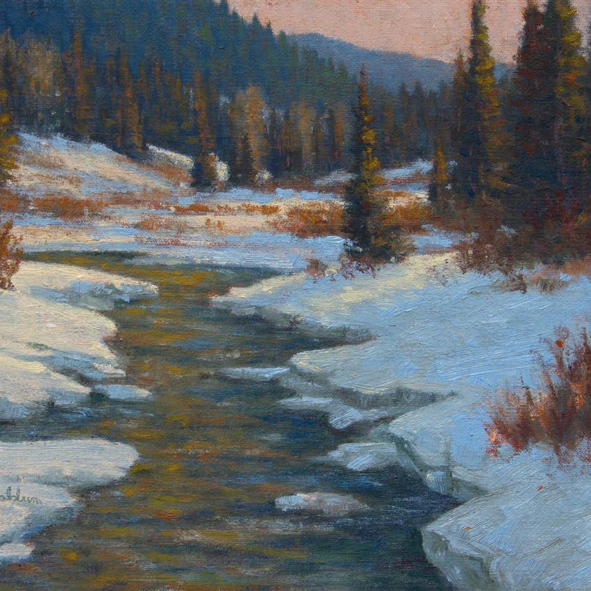 Gallatin Winter, Tranquil Afternoon (study) hi res