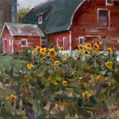 Sunflowers and Coreopsis