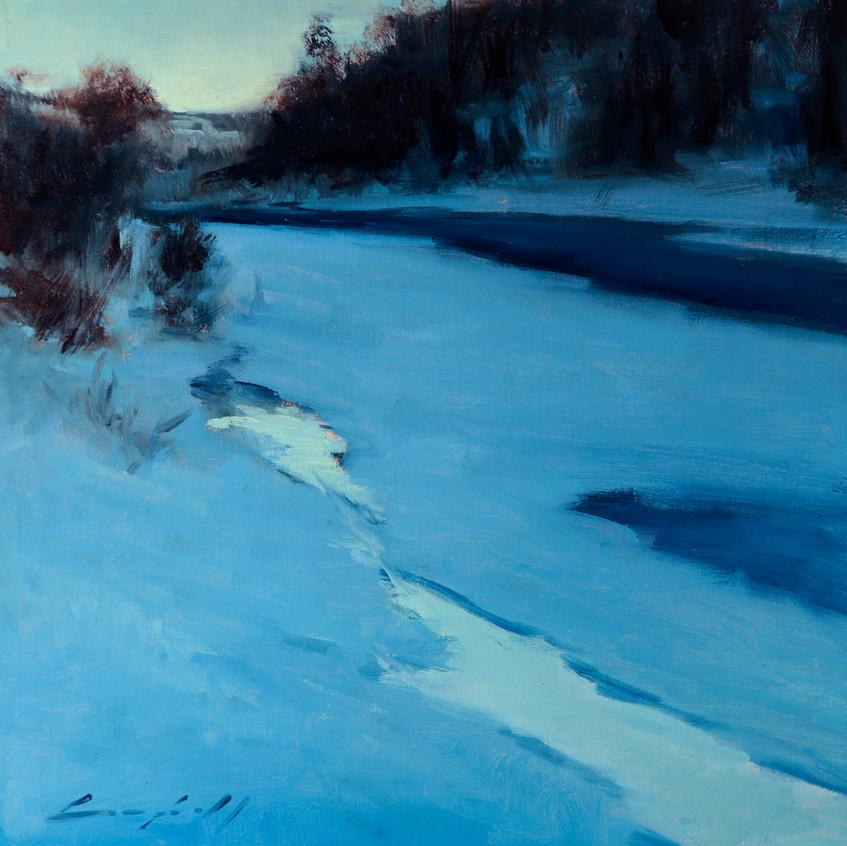 12x12 winter river