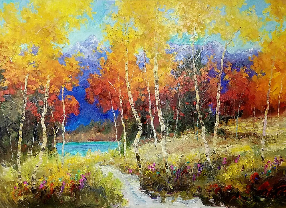 """""""The Beginning"""" 52 x 72 inches"""