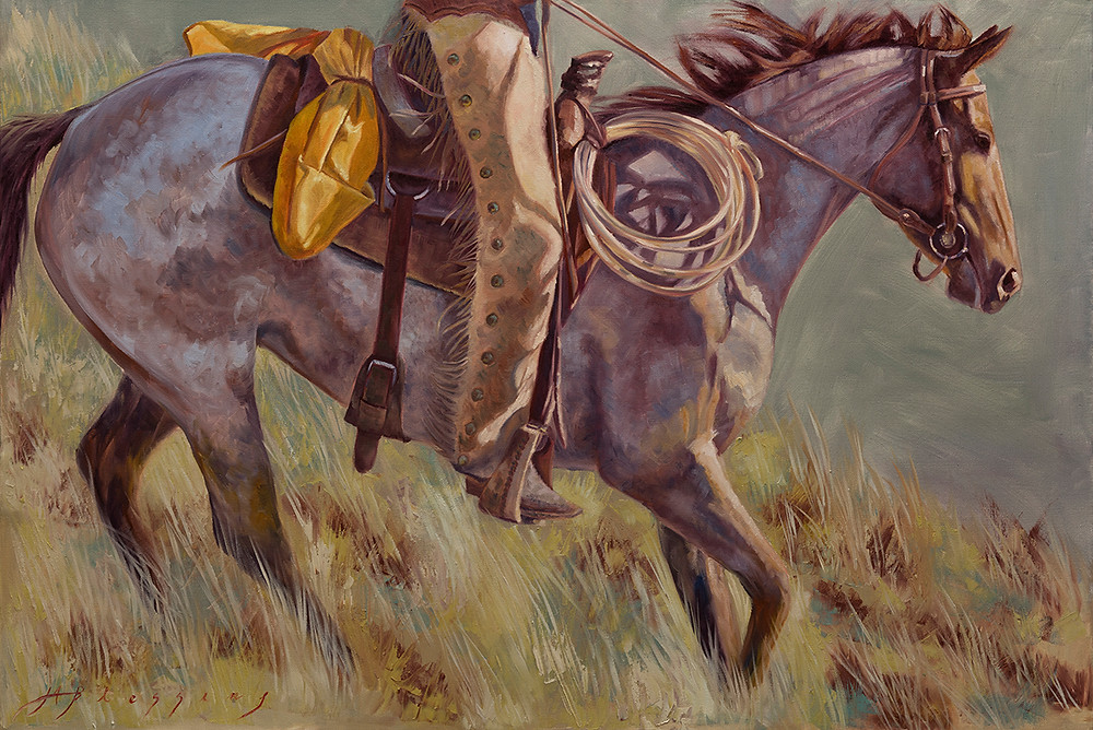 """""""Chasing The Sun"""" 24 x 36 inches, Oil"""