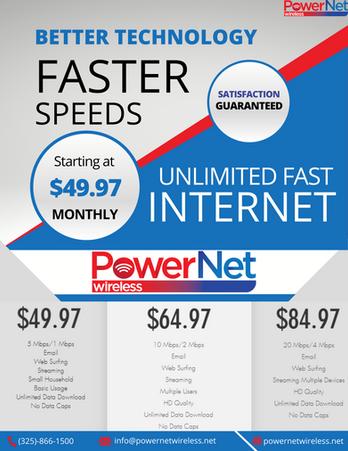 Faster Speeds Ad