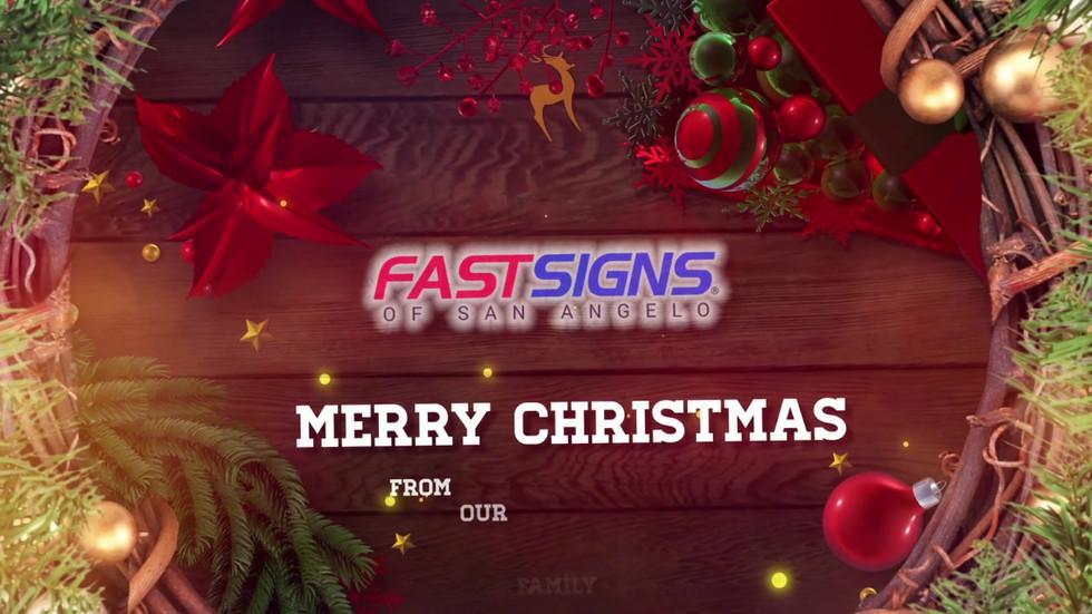 FastSigns of San Angelo Christmas Video