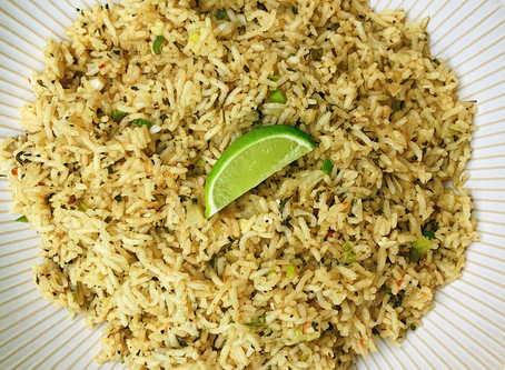 .Garlic Cilantro Rice.
