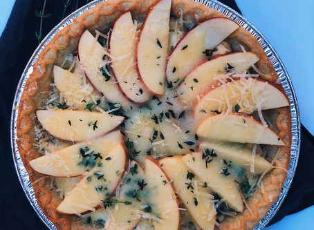 .Savory Apple and Thyme Tart.