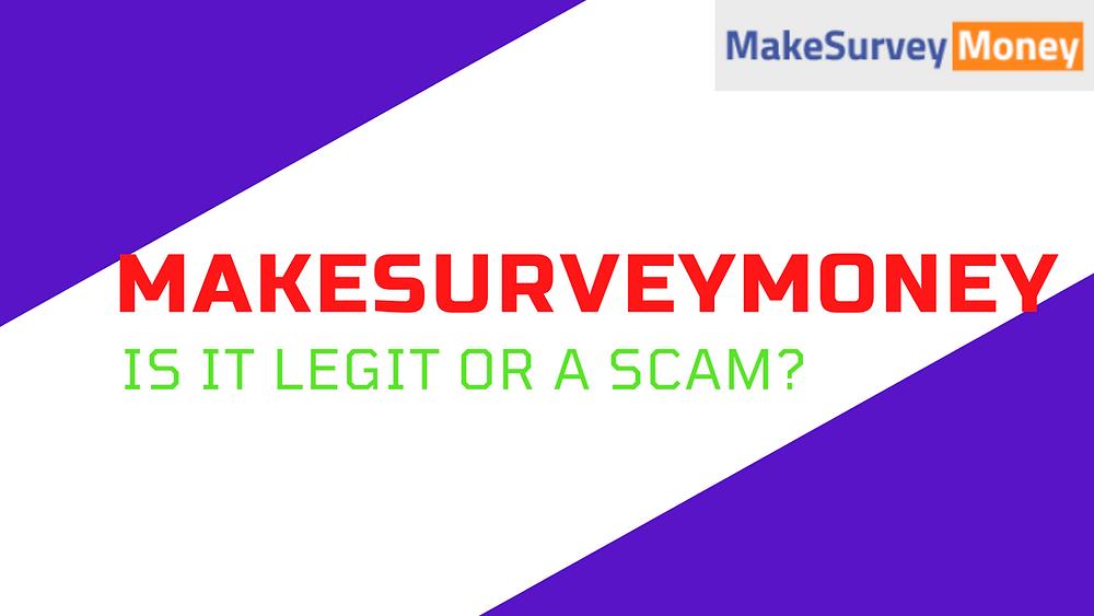 makesurveynow legit or scam