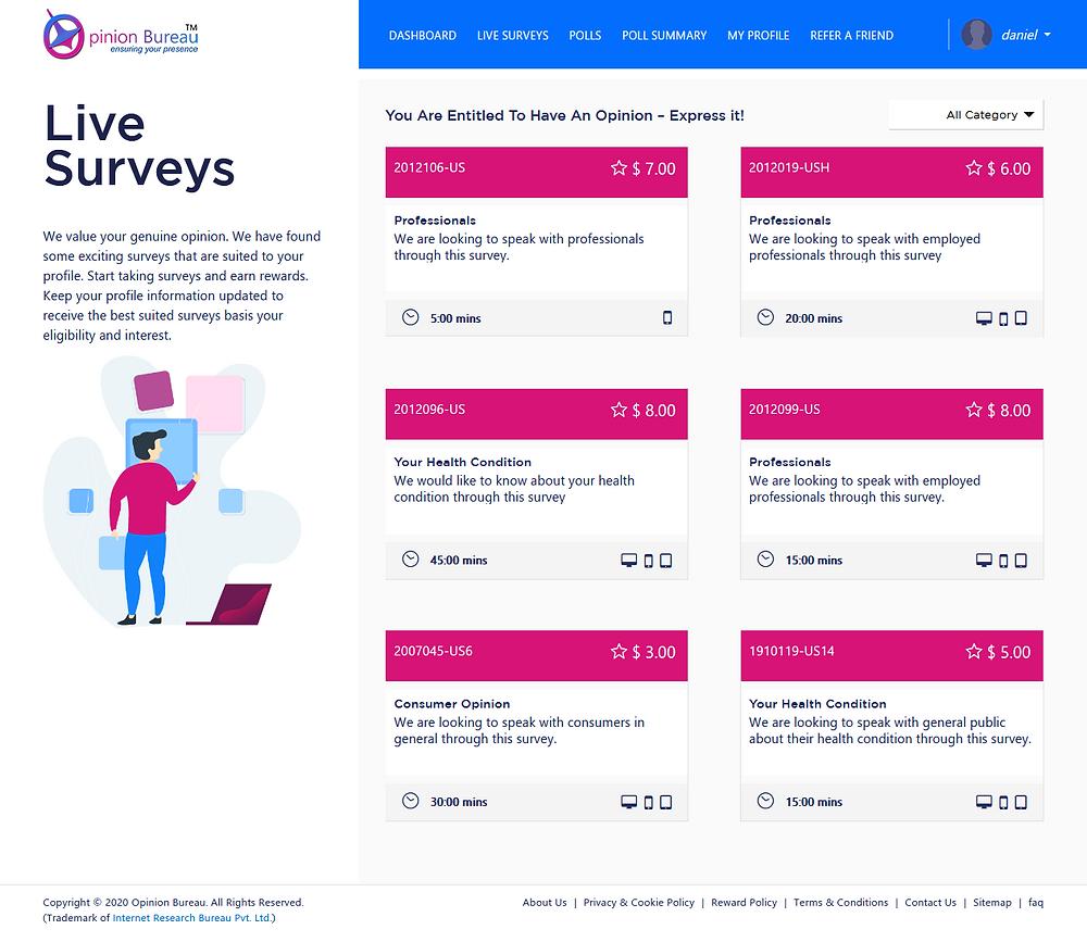 opinion bureau surveys
